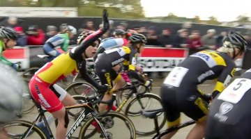 2016 Soudal Classics GP Hasselt - Sanne Cant protests a false start