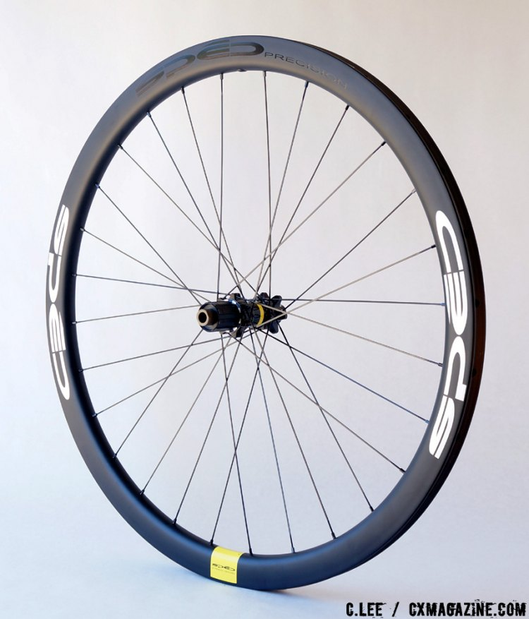 Spēd Precision Courseque CX tubular wheels, angled view. © Clifford Lee