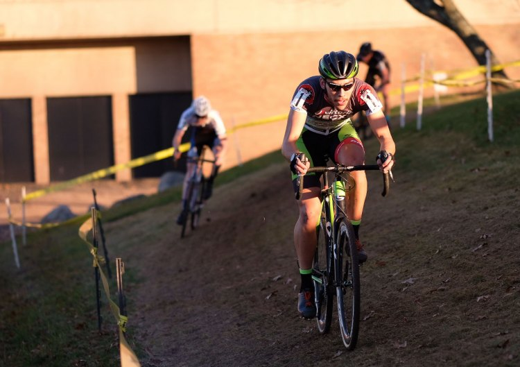Curtis White in the lead. 2016 Supercross cyclocross race. © Chris McIntosh