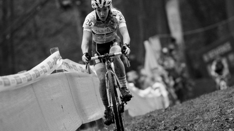 Alicia Franck had a strong ride to finish eigth. 2016 Superprestige Gavere Elite Women. © B. Hazen / Cyclocross Magazine