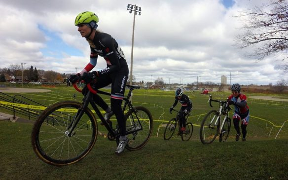 Wisconsin Cyclocross - April Beard got off to a fast start on Saturday (Photo: Nathan Phelps)