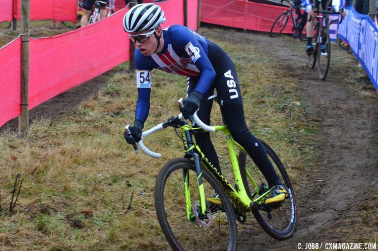 Eric Brunner would finish top American in 26th place at the 2016 Zeven UCI Cyclocross World Cup. © C. Jobb / Cyclocross Magazine