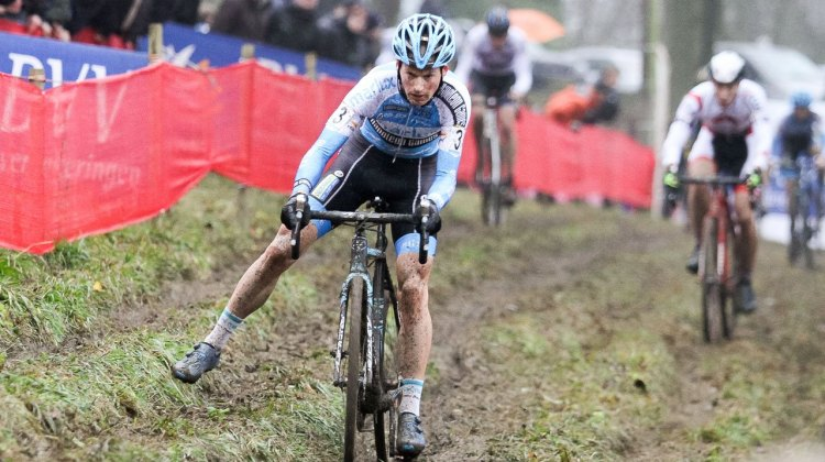 Pauwels surged through the field to grab his second third-place finish of the weekend. 2016 UCI Cyclocross World Cup Namur. Elite Men. © B. Hazen / Cyclocross Magazine