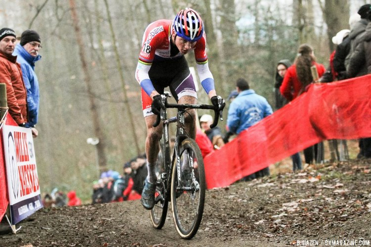 Mathieu van der Poel in control. 2016 UCI Cyclocross World Cup Namur. Elite Men. © B. Hazen / Cyclocross Magazine