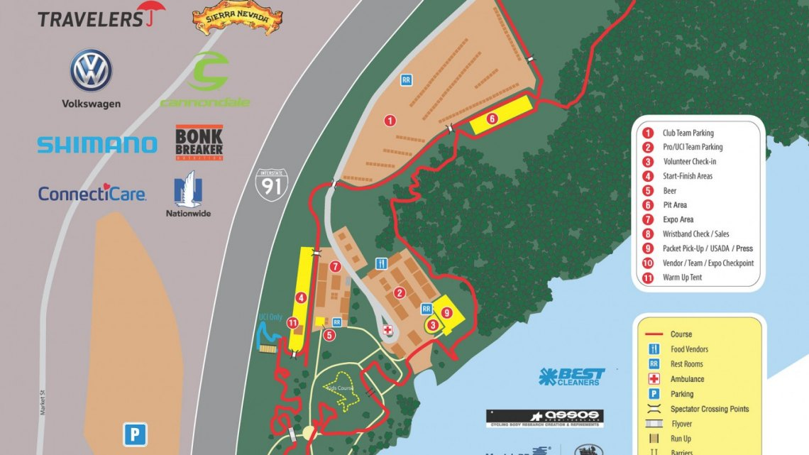 2017 Cyclocross National Championships Course Map