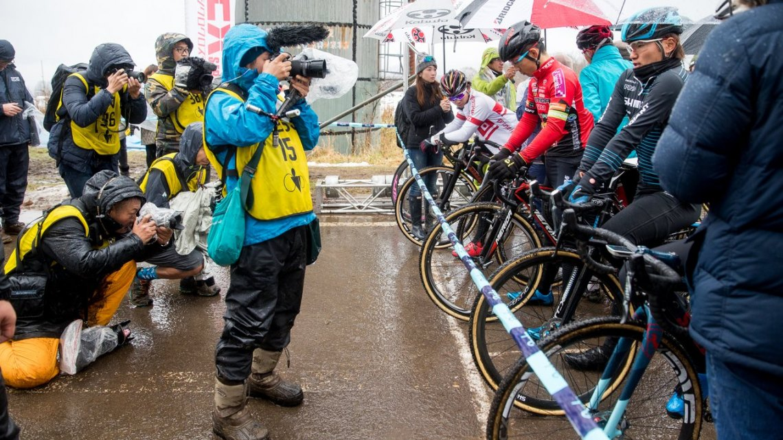Japanese UCI races are as official as UCI races in the U.S., but there's just a lot more metal bikes. 2016 Nobeyama Rapha Super Cross Day 2. © Jeff Curtes