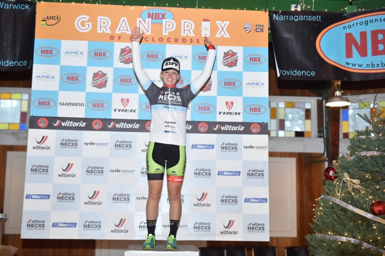 Emma White (Cannondale p/b Cyclocrossworld.com) wins again. © Chris McIntosh / Cyclocross Magazine