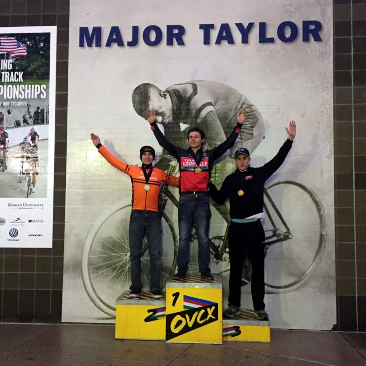 Juniors's podium from Day 2 of the Major Taylor Cross Cup 2016. © Riley Missel / Cyclocross Magazine