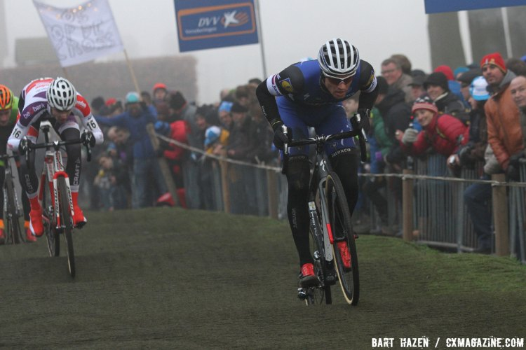 Zdenek Stybar of the Etixx-Quickstep team would end up 18th at the race finish. 2016 Azencross Elite Men's race. © Bart Hazen / Cyclocross Magazine