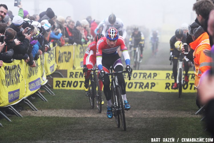 Mathieu van der Poel. 2016 Azencross Elite Men's race. © Bart Hazen / Cyclocross Magazine