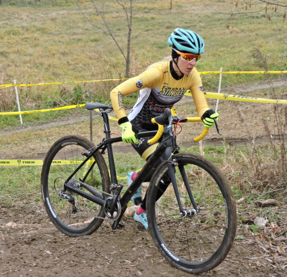 Abby Strigel one-upped Sven's unretirement by winning the Wisconsin State Championship. © Zach Schuster / Cyclocross Magazine