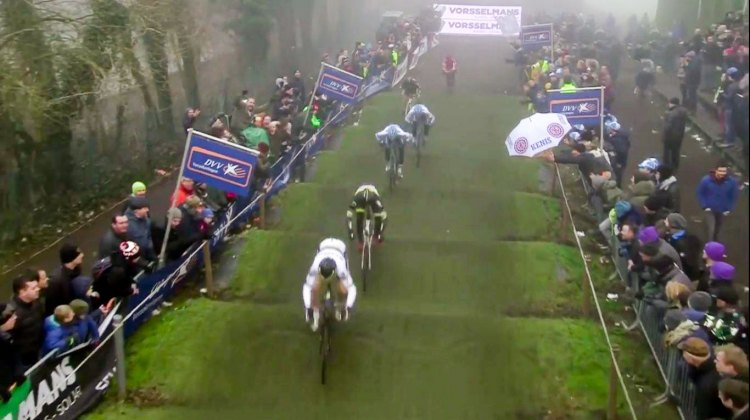 2016 Azencross Men's Race - Wout van Aert leads the chase of Aerts