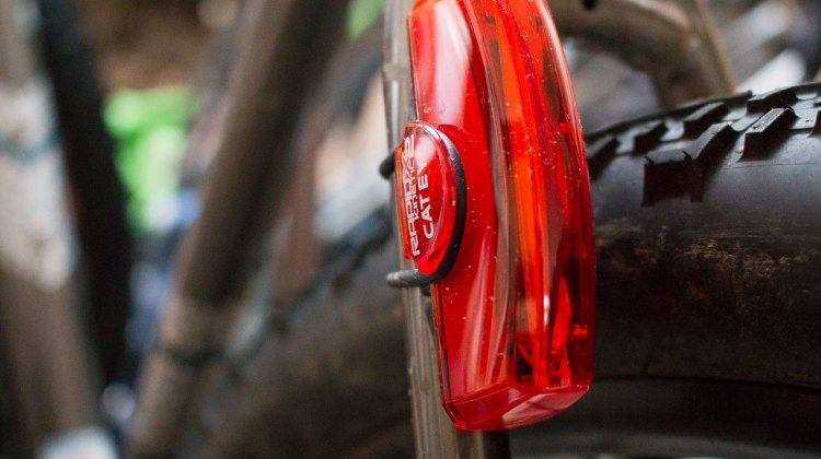 Cateye Rapid X2 Kinetic rear bike light. © Cyclocross Magazine
