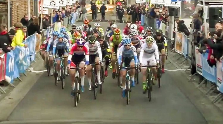 2016 Druivencross Elite Men: Mathieu van der Poel grabs the holeshot
