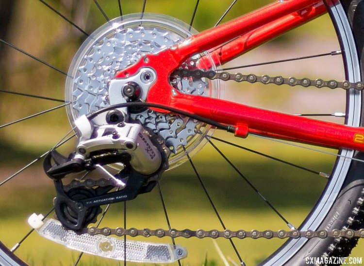 "SRAM X4 rear derailleurs shift between the 7 gears. Islabikes Beinn 20"" Small kid's bike. © Cyclocross Magazine"