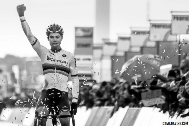 Wout van Aert is undefeated in 2016 in Zolder. 2016 Heusden-Zolder Cyclocross World Cup. Elite Men. © P. Scholz / Cyclocross Magazine