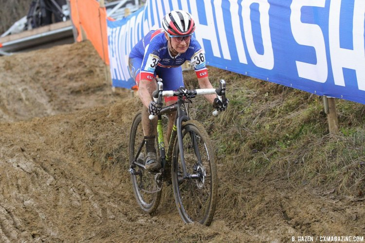 Katerina Nash has had an impresive cyclocross season, and was a factor at the front late at the 2016 Heusden-Zolder Cyclocross World Cup. Elite Women. © B. Hazen / Cyclocross Magazine