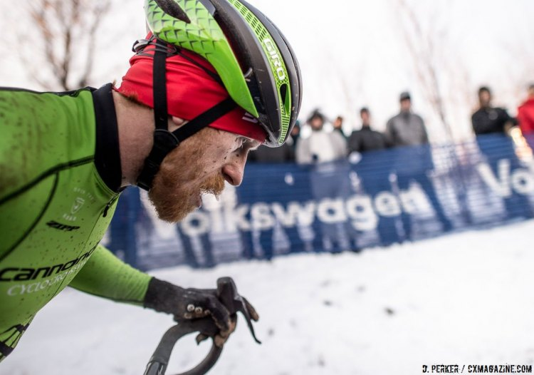 Eye on the prize. Stephen Hyde focused on his season's goal. 2017 Cyclocross National Championships, © D. Perker / Cyclocross Magazine