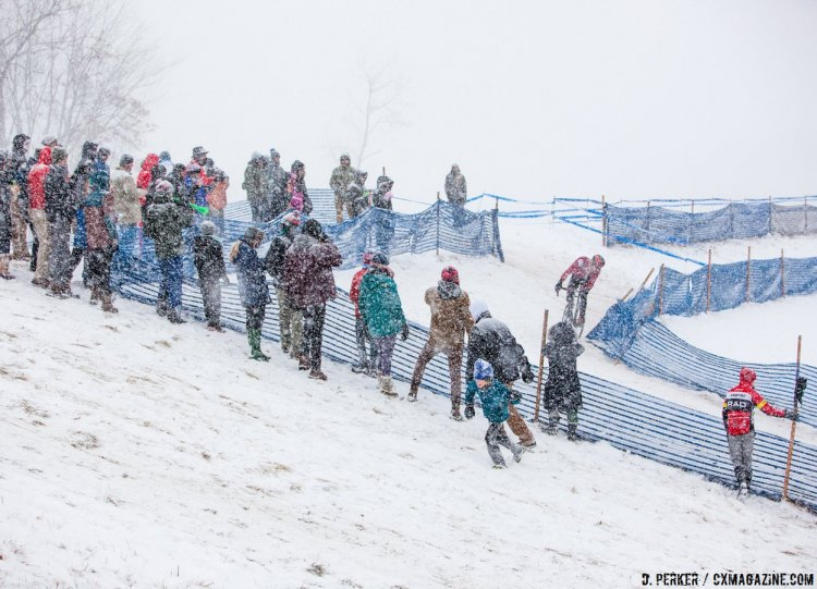 Bonbreaker Hill is all about the commitment. 2017 Cyclocross National Championships, © D. Perker / Cyclocross Magazine
