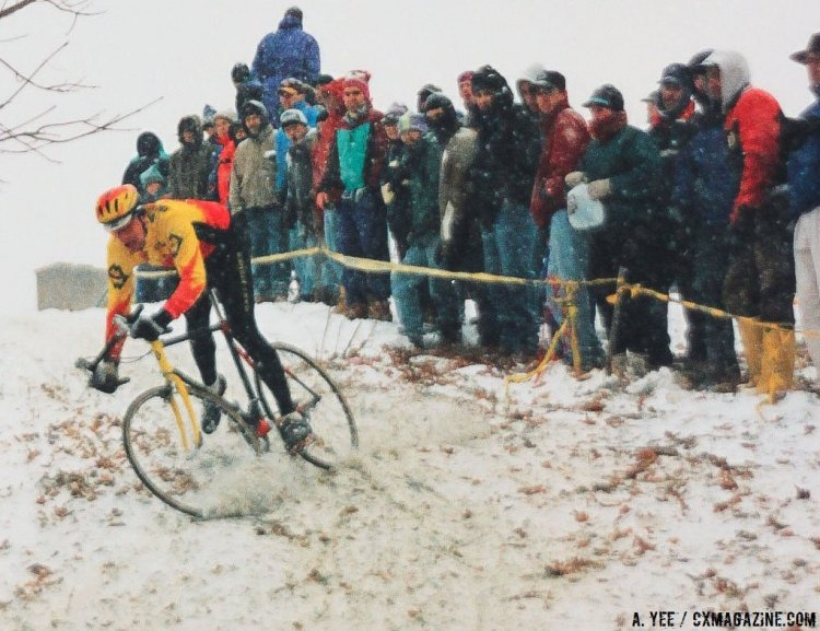 The 1995 Cyclocross National Championships in Leicester, Mass. that inspired Lyle Fulkerson. Rider: Pete Webber or Andy Bishop? © A. Yee