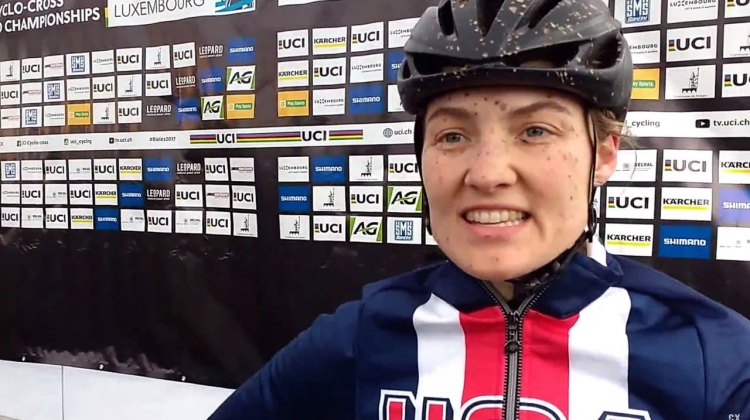 Elle Anderson - post 2017 Cyclocross World Championships, Bieles, Luxembourg