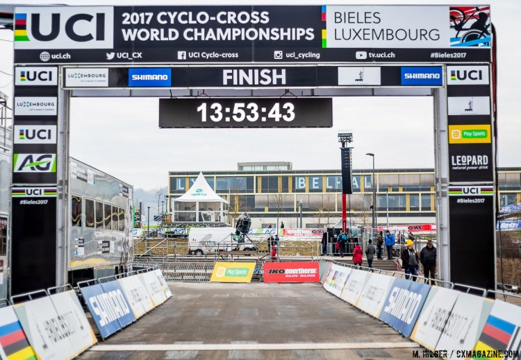2017 Cyclocross World Championships Finish Line © M. Hilger / Cyclocross Magazine