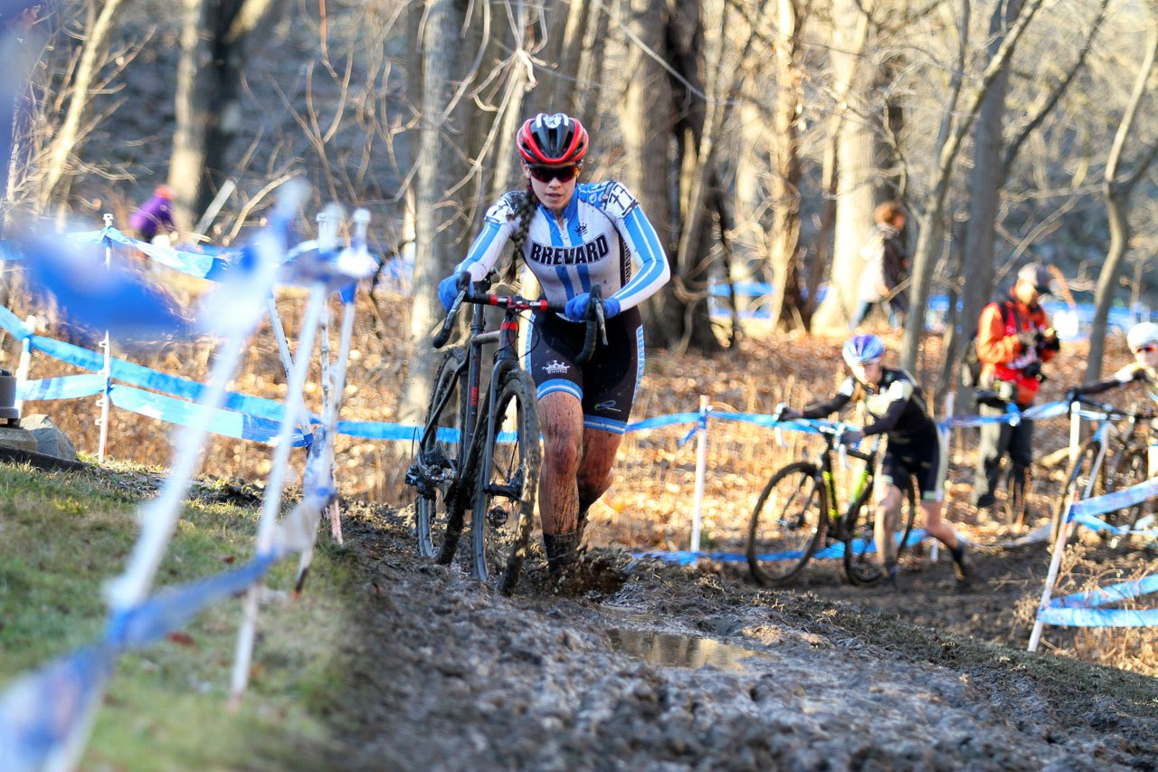 Allison Arensman started her 2017 on a positive note at Hartford Collegiate Nationals. 2017 Cyclocross National Championships, Women's Collegiate Varsity Race. © D. Mable / Cyclocross Magazine