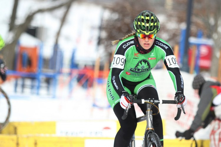 Ashley Zoerner challenged the U23 top 10, and took the Junior Women 17-18 title. 2017 Cyclocross National Championships, Women U23/Junior Women 17-18. © Cyclocross Magazine
