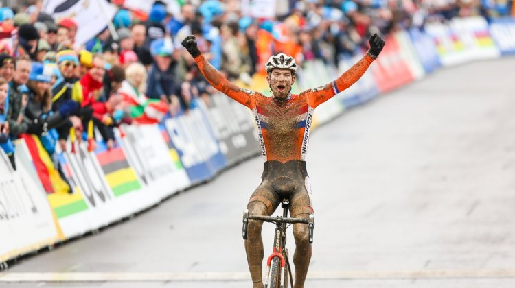 Joris Nieuwenhuis was dominant. U23 Men. 2017 UCI Cyclocross World Championships, Bieles, Luxembourg. © M. Hilger / Cyclocross Magazine