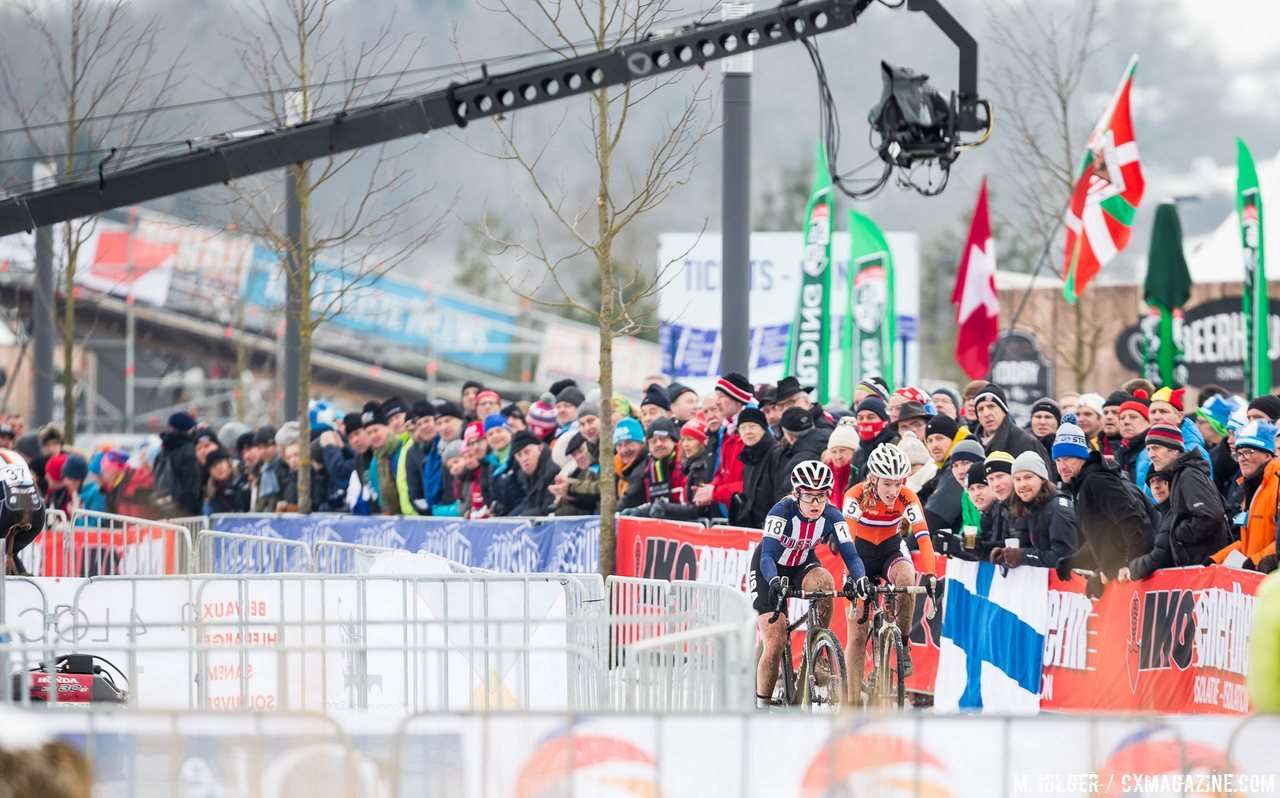 Worst took the win in a memorable U23 Women's race at the 2017 World Championships. U23 Women, 2017 UCI Cyclocross World Championships, Bieles, Luxembourg. © M. Hilger / Cyclocross Magazine