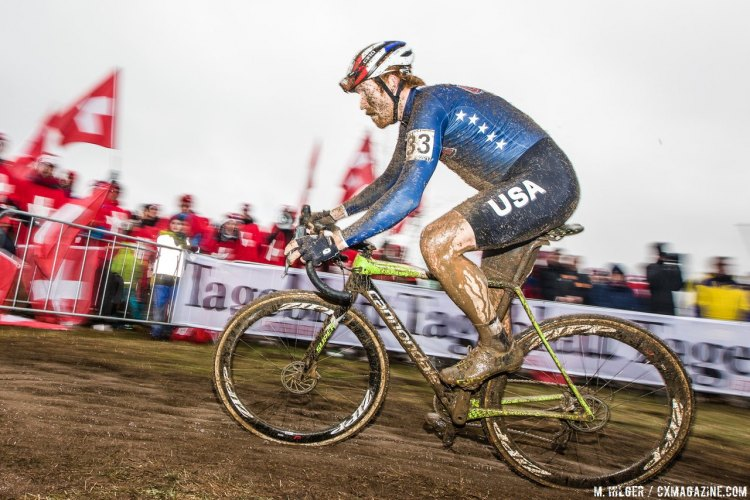 Stephen Hyde on his way to 18th. Elite Men. 2017 UCI Cyclocross World Championships, Bieles, Luxembourg. © M. Hilger / Cyclocross Magazine