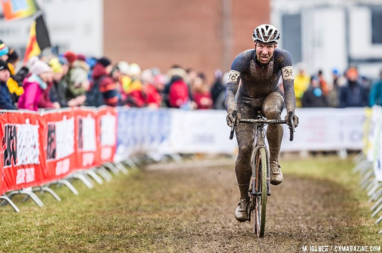 Jeremy Power pushed through a tough season. 2017 UCI Cyclocross World Championships, Bieles, Luxembourg. © M. Hilger / Cyclocross Magazine