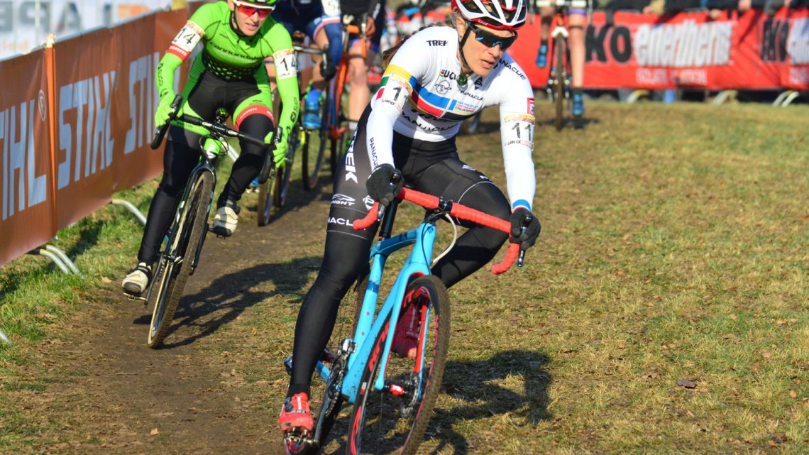 Katie Compton. 2017 Hoogerheide World Cup Elite Women. © C. Jobb / Cyclocross Magazine