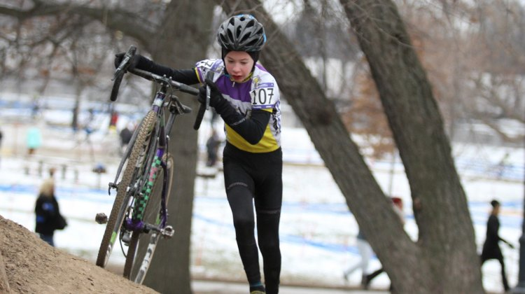David Thompson (CT Cycling Advancement Program) from New Canaan wins the 2017 Cyclocross National Championship Junior Men 11-12. © D. Mable / Cyclocross Magazine