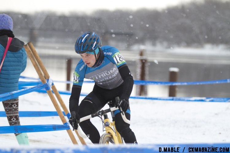 Michael Larson (Velo Reno P/B Western Lithium) had a solid race and would finish third. 2017 Cyclocross National Championships Masters Men 30-34. © D. Mable / Cyclocross Magazine