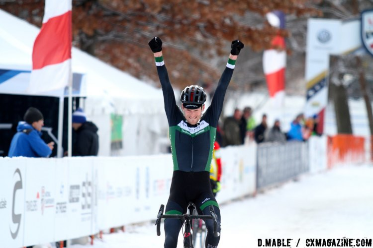 Isaac Neff (Neff Cycle Service) wins the 2017 Cyclocross National Championships Masters Men 30-34 Title. © D. Mable / Cyclocross Magazine