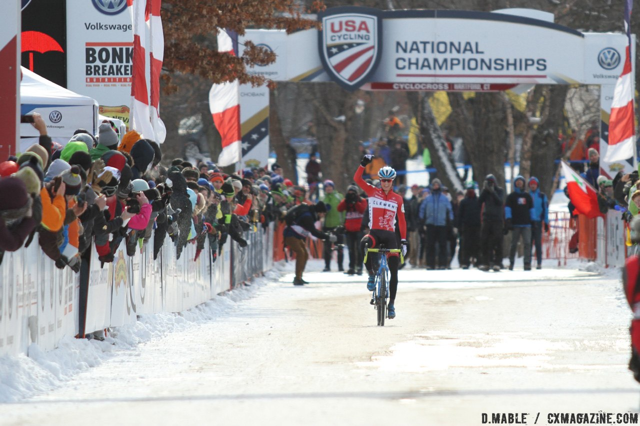 Haidet won his first national championship in the Hartford snow and ice. 2017 Cyclocross National Championships - U23 Men. © D. Mable / Cyclocross Magazine