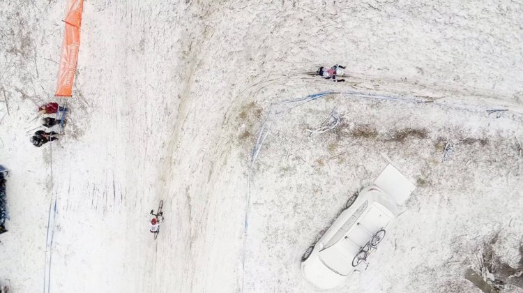 Noah Bell gives an aerial view of the 2017 Cyclocross National Championships