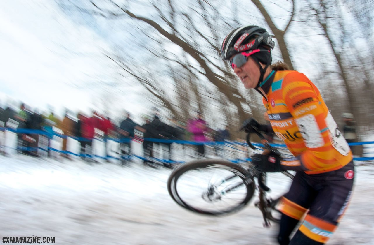 Amanda Miller had a solid race. 2017 Cyclocross National Championships. ©  Cyclocross Magazine