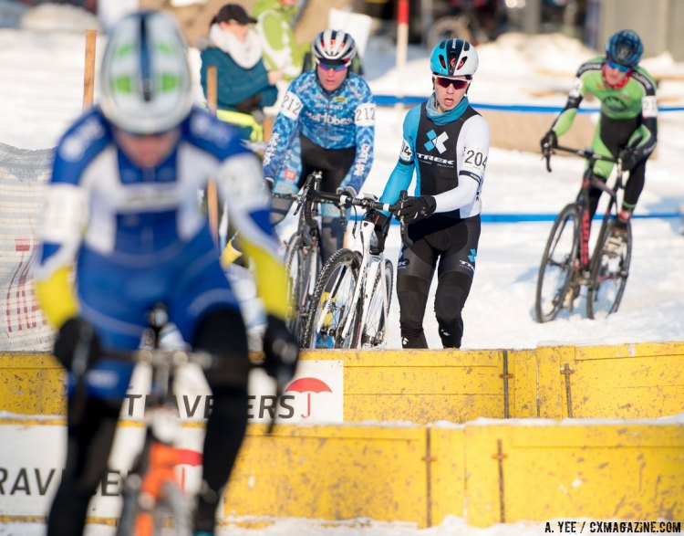 Caleb Swartz on the move up at the 2017 Cyclocross National Championships in Hartford. © Cyclocross Magazine