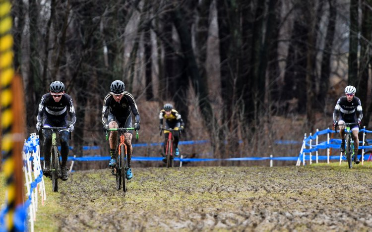 Maxx Chance and Brendan Rhim. 2017 CX National Championships Hartford Day 2 Collegiate Men Club. © A. Yee / Cyclocross Magazine