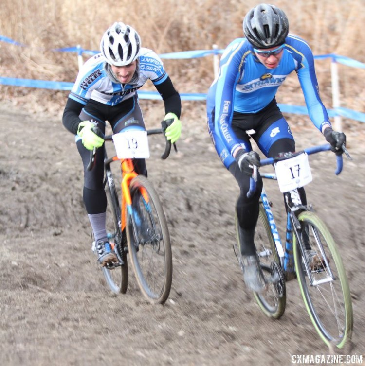 Fort Lewis and Brevard were locked in battle early on. 2017 Cyclocross National Championships. © D. Mable / Cyclocross Magazine