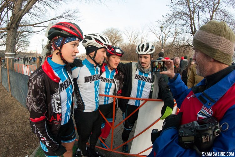 Brevard College dominated the Varsity relay. 2017 Cyclocross National Championships, Collegiate Relay. © A. Yee / Cyclocross Magazine