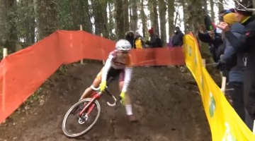 Crashfest at the 2017 Fiuggi Cyclocross World Cup