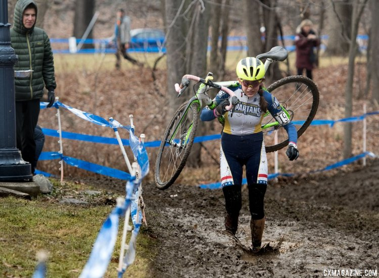 Emily Shields made a splash in winning the 2017 Cyclocross National Championships, Masters Collegiate Club Women. © A. Yee / Cyclocross Magazine