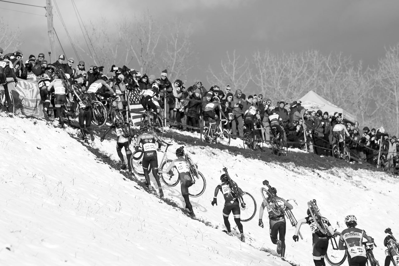 Hartford Nationals had strong participation, even despite the mercurial weather. 2017 Cyclocross National Championships, Elite Men. © A. Yee / Cyclocross Magazine