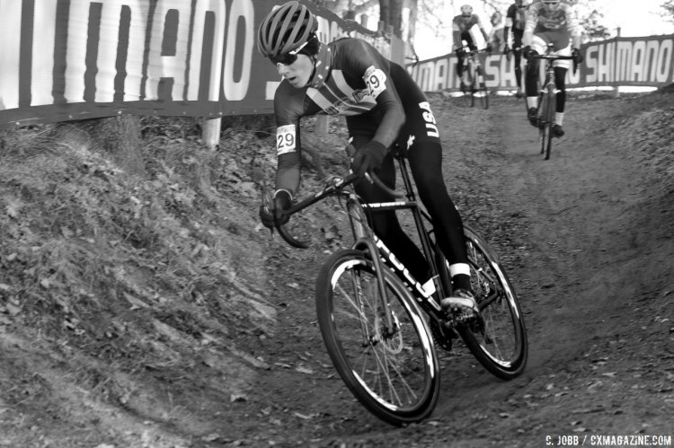 Ross Ellwood was two spots behind Wood in 37th. 2017 Hoogerheide UCI Cyclocross World Cup. Junior Men. © C. Jobb / Cyclocross Magazine