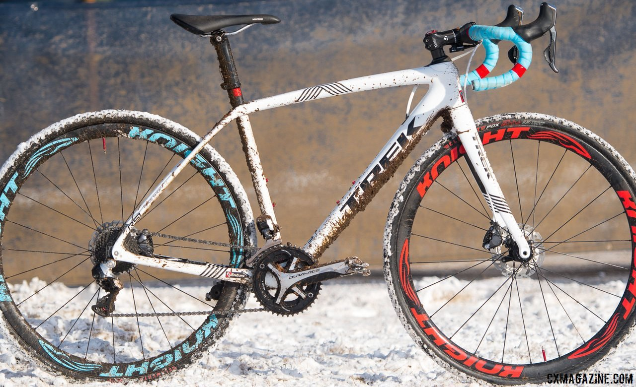 We first saw the new Trek Boone when Katie Compton won her 13th national championship in Hartford. © Cyclocross Magazine