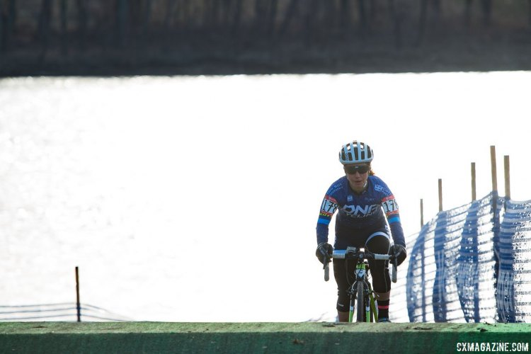 Sarah Kaufman (Stans NoTubes) finished in third place) 2017 Cyclocross National Championships, Masters Women 35-39. © A. Yee / Cyclocross Magazine
