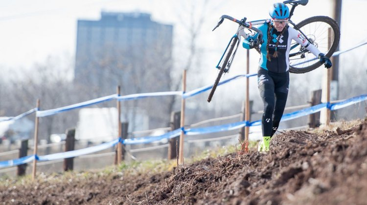 Moore ran away from her competitiors. 2017 Cyclocross National Championships, Masters Women 45-49. © A. Yee / Cyclocross Magazine